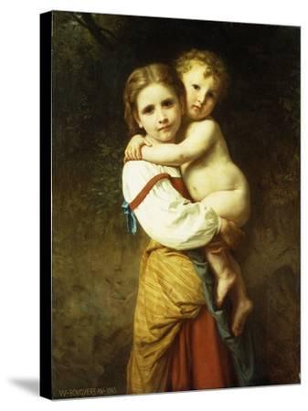 The Big Sister; La Grande Soeur-William Adolphe Bouguereau-Stretched Canvas Print