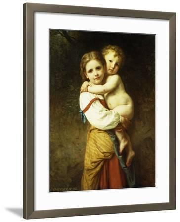 The Big Sister; La Grande Soeur-William Adolphe Bouguereau-Framed Giclee Print