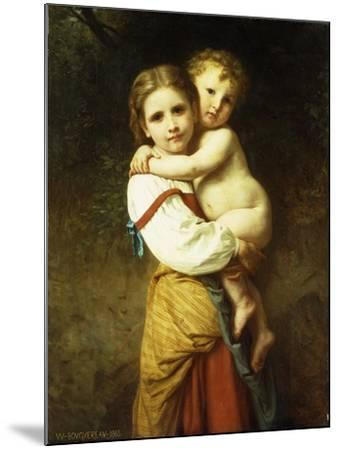 The Big Sister; La Grande Soeur-William Adolphe Bouguereau-Mounted Giclee Print