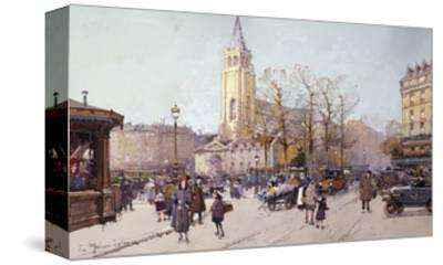 St. Germaine de Pres-Eugene Galien-Laloue-Stretched Canvas Print