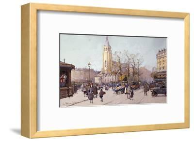St. Germaine de Pres-Eugene Galien-Laloue-Framed Giclee Print