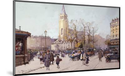 St. Germaine de Pres-Eugene Galien-Laloue-Mounted Giclee Print