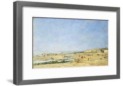Trouville, General View of the Beach-Eug?ne Boudin-Framed Giclee Print