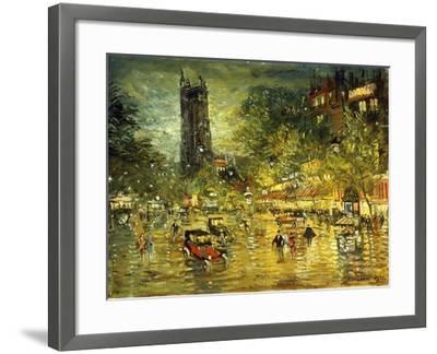 Parisian Street Scene-Konstantin Alekseevich Korovin-Framed Giclee Print