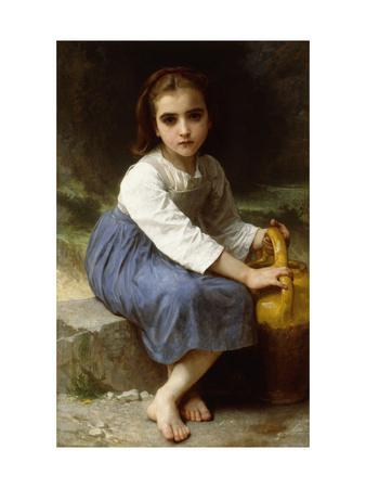 Young Girl with a Pitcher-William Adolphe Bouguereau-Framed Giclee Print