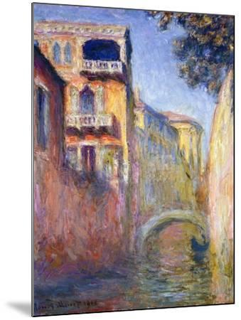 Le Rio de la Salute-Claude Monet-Mounted Giclee Print