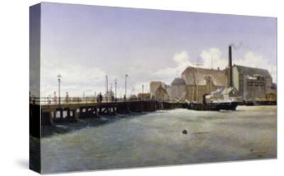 The Bridge of the Old Langebro, Copenhagen-Fritz Stahr Olsen-Stretched Canvas Print