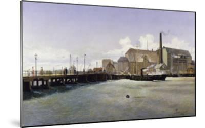 The Bridge of the Old Langebro, Copenhagen-Fritz Stahr Olsen-Mounted Giclee Print