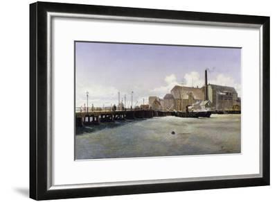 The Bridge of the Old Langebro, Copenhagen-Fritz Stahr Olsen-Framed Giclee Print