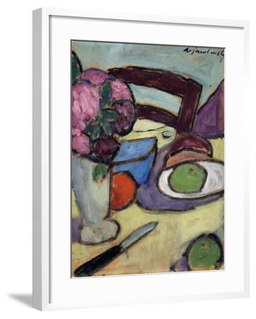 Still life with Chair and Bouquet-Alexej Von Jawlensky-Framed Giclee Print