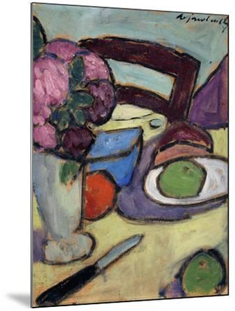 Still life with Chair and Bouquet-Alexej Von Jawlensky-Mounted Giclee Print