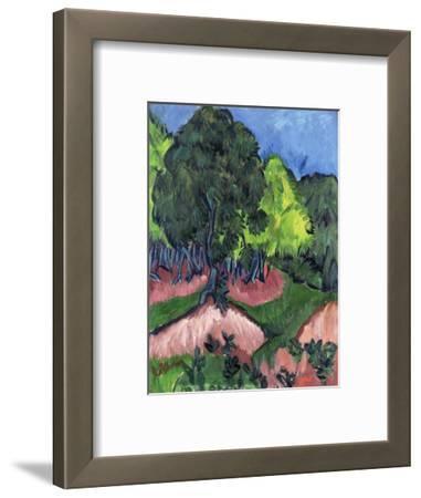Landscape with Chestnut Tree-Ernst Ludwig Kirchner-Framed Giclee Print