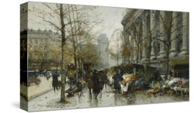 La Madelaine, Paris-Eugene Galien-Laloue-Stretched Canvas Print