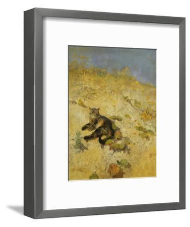 A Cat Basking in the Sun-Bruno		 Liljefors-Framed Premium Giclee Print