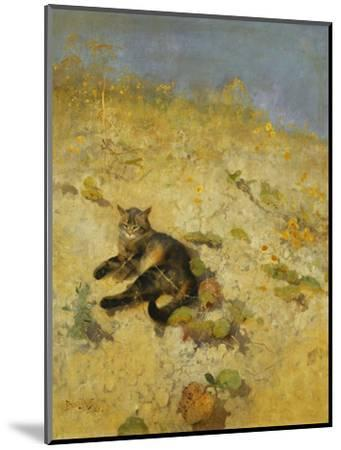 A Cat Basking in the Sun-Bruno		 Liljefors-Mounted Premium Giclee Print
