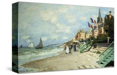 The Beach at Trouville-Claude Monet-Stretched Canvas Print