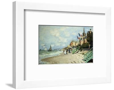 The Beach at Trouville-Claude Monet-Framed Premium Giclee Print