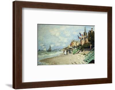 The Beach at Trouville-Claude Monet-Framed Premium Giclee Print