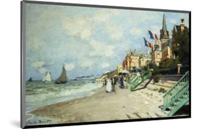 The Beach at Trouville-Claude Monet-Mounted Premium Giclee Print