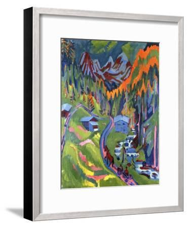 Sertig Path in Summer-Ernst Ludwig Kirchner-Framed Giclee Print