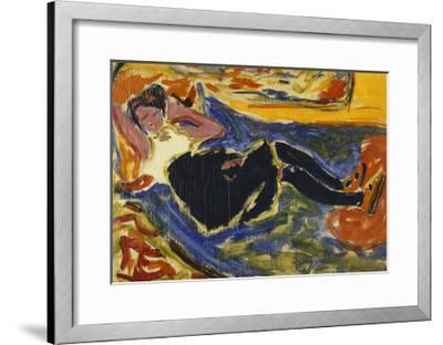 Woman with Black Stockings-Ernst Ludwig Kirchner-Framed Giclee Print