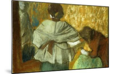 At the Couturiere, the Fitting-Edgar Degas-Mounted Giclee Print