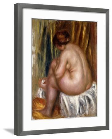 After the Bath (Nude Study)-Pierre-Auguste Renoir-Framed Giclee Print