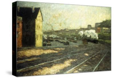 Entering the Station-Hermann Pleuer-Stretched Canvas Print