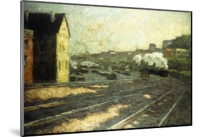 Entering the Station-Hermann Pleuer-Mounted Giclee Print