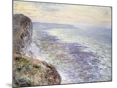The Sea near Fecamp-Claude Monet-Mounted Giclee Print