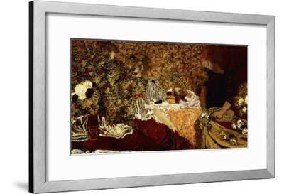 Dressing Table (in the flowers); Le Table de Toilette (Dans le Fleurs)-Edouard Vuillard-Framed Giclee Print