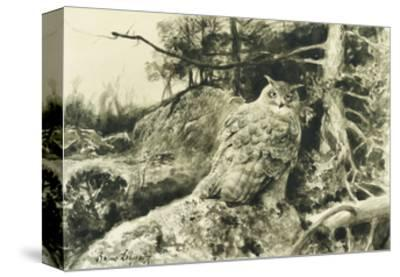 Berguv (Eagle Owl) Bubo Bubo-Bruno		 Liljefors-Stretched Canvas Print