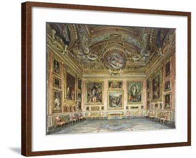Interiors of the Palazzo Pitti, Florence-Domenico Caligo-Framed Giclee Print