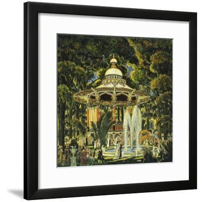 Gazebo in Central Park-Edward Middleton Manigault-Framed Giclee Print