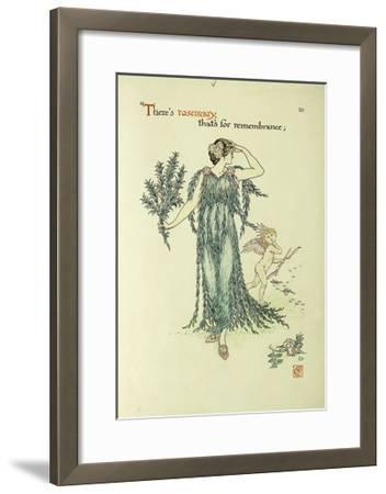Flowers from Shakespeare's Garden: Rosemary-Walter Crane-Framed Giclee Print