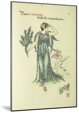 Flowers from Shakespeare's Garden: Rosemary-Walter Crane-Mounted Giclee Print