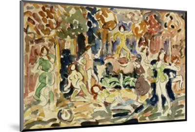Dancing Figures-Maurice Brazil Prendergast-Mounted Giclee Print
