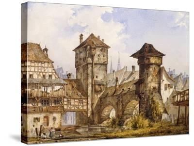 A View of Nurnberg-Angelo		 Quaglio-Stretched Canvas Print