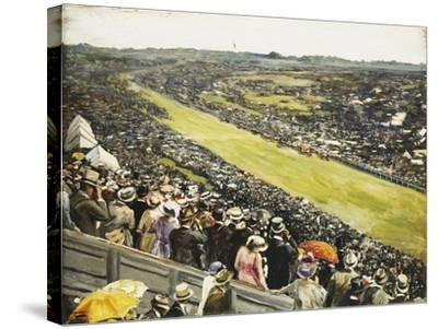 The Derby-Sir John Lavery-Stretched Canvas Print