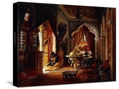 Within the Seraglio-Frederick Arthur Bridgman-Stretched Canvas Print