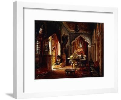 Within the Seraglio-Frederick Arthur Bridgman-Framed Giclee Print