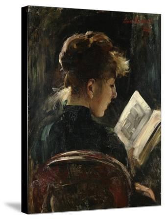 Woman Reading-Lovis		 Corinth-Stretched Canvas Print