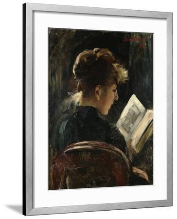 Woman Reading-Lovis		 Corinth-Framed Giclee Print