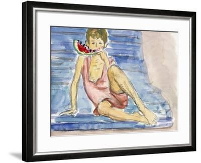 The Artist's Son-Henri Lebasque-Framed Giclee Print