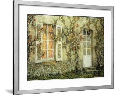 The House of Roses-Henri Eugene Augustin Le Sidaner-Framed Giclee Print