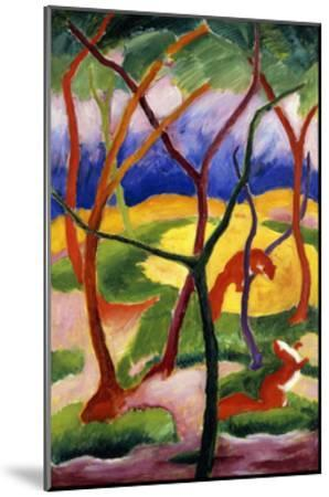 Playing Weasels-Franz Marc-Mounted Giclee Print