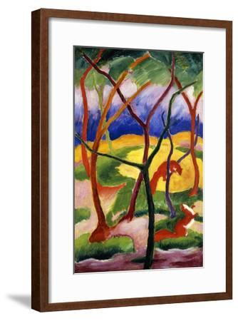 Playing Weasels-Franz Marc-Framed Giclee Print