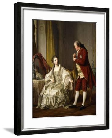 Double Portrait of the Marquis and Marquise de Marigny-Louis Michel Loo-Framed Giclee Print