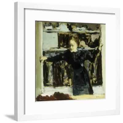 Woman Opening a Window-Edouard Vuillard-Framed Giclee Print