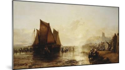 Fisherfolk Landing their Catch on Folkestone Beach-James Webb-Mounted Giclee Print